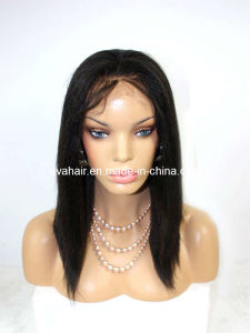 100% Indian Remy Human Hair Full Lace Wig pictures & photos