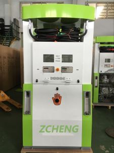 Zcheng Green Color Creative Series Gas Station Fuel Dispenser with ESD pictures & photos
