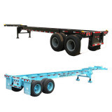 Cimc 40′ Gooseneck Skeletal Trailer with 2/3 Axles Truck Chassis pictures & photos