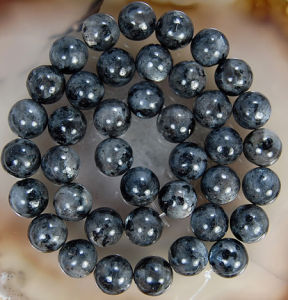 10mm Round Larvikite Gemstone Loose Beads