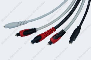 Premium Luxuary Toslink Cable with Nylon Sleeve Jacket pictures & photos