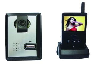 Wireless Video Door Phone With 300 Metres Transmission Distance and Unlocking Function