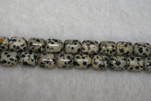 Mottle Dalmatian Stone Capsule Gemstone Beads (SFCP1005)