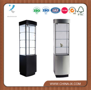 Tower Display Case with Curved Bow Front pictures & photos
