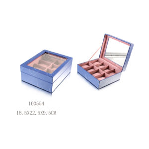 Elegant MDF PU Leather Packing Display Wooden Box Watch Case pictures & photos