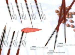 Eeesa Professional Metal Handle Nylon Hair Nail Art Tool Pure Kolinsky Sable Hair Nail Art Brush Beauty Painting