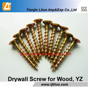 Tianjin Manufacturer Yellow Zinc Bugle Head Drywall Screws pictures & photos