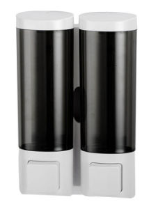 Modern Double Black Wall Mount Liquid Soap Dispenser pictures & photos