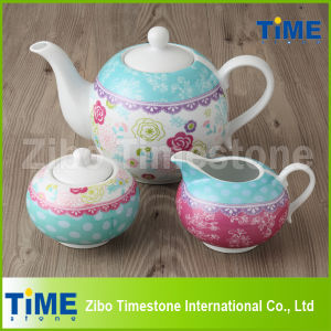 Wholesale Decal Porcelain Tea Set pictures & photos