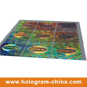 Silvery Security Anti-Fake 3D Laser Hologram Label pictures & photos