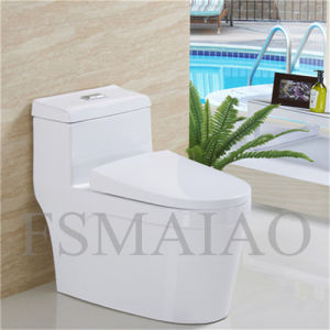 Sanitary Wares Plumber Bathroom Siphonic One Piece Toilet (8104) pictures & photos