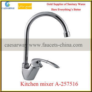 Chrome Plated Long Spout Water Kitchen Sink Mixer