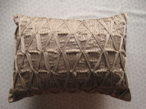 Grace Pleats Khaki Oblong DEC Pillow pictures & photos