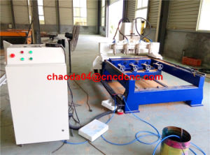 Hot 3D CNC Carving Router Machine for Cylinder /Column Works pictures & photos
