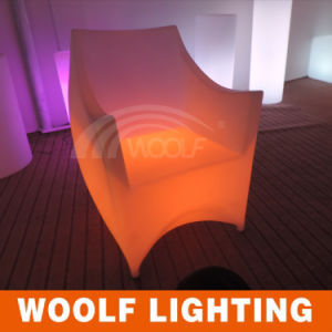 LED Glowing High Wing Back Plastic Arm Coffee Chairs pictures & photos