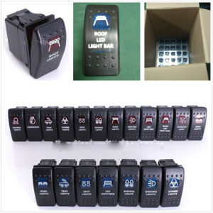 Waterproof Boat 4 Ways LED Lighted Rocker Switch Panel Dustproof Rocker Switch pictures & photos