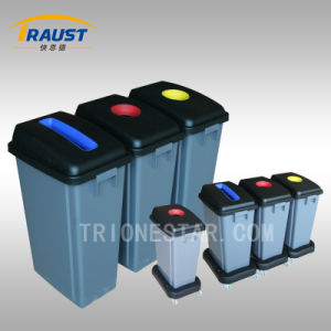 Hot Sale Outdoor Plastic Dustbin with Wheel Base pictures & photos