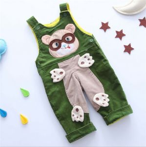 P1124 Baby Pants Children Overalls New Autumn Winter Cute Bear Corduroy Kids Trouser with Shoulder Strap pictures & photos