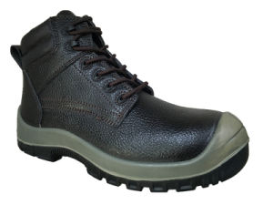 Hot Sell Casual Style Split Embossed Leather Safety Shoes (HQ8004) pictures & photos