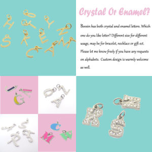 Wholesale Crystal Metal Letter Alphabet Charm for Bracelet Jewelry pictures & photos
