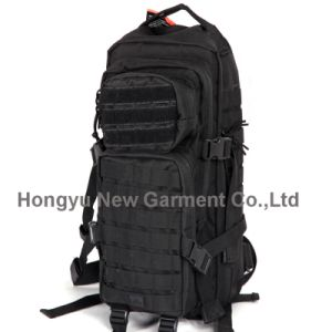 High Quality Waterproof Black Military Backpack (HY-B077) pictures & photos