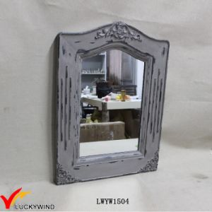 Solid Wood Framing Wall Vintage Grey Mirror pictures & photos