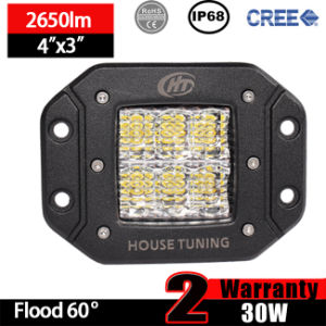 Flush Mount LED Work Light of 30W Diffused Flood (3inch, IP68 Waterproof) pictures & photos