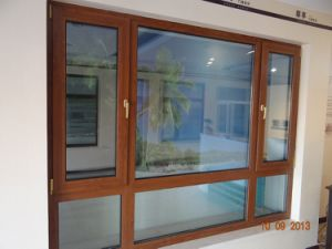 Wood Lamination UPVC Window and Door pictures & photos
