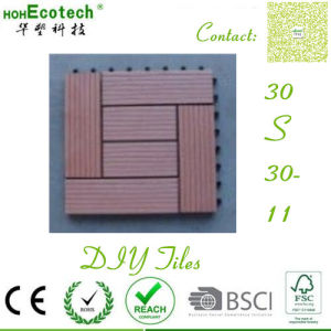 Building Floor Composite Grooved Wood Board Anti Skidding WPC Tiles pictures & photos