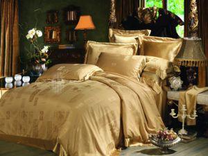 Taihu Snow Silk Traditional Oeko-Tex Jacquard Seamless Grey Silk Comforter Set pictures & photos