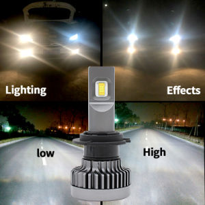 High Lumen 9600lm Unique Colors Yellow/Blue&White Car H4 LED Headlight with 60W LED Healight and LED Light Bar pictures & photos