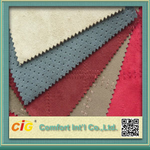 High Quality New Design Colorful Suede Bonded Faux Fur Fabrics pictures & photos