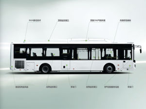 Sunlong Slk6109au6n Natural Gas City Bus pictures & photos