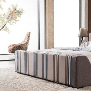 Stripe Pattern Fabric Bedroom Bed Matching with Cabinet (306+05) pictures & photos