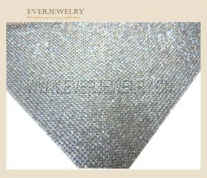 24*40 Aquamarine Iron-on Diamond Mesh Wrap Roll Sparkle Rhinestone Mesh Trimming pictures & photos