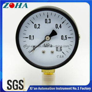 100 Diameter Black Steel Case Brass Internal General Pressure Gauge pictures & photos