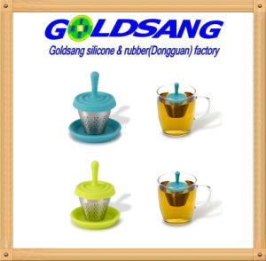 2016 New Design Water Spot Silicone Tea Infuser with Stainless Steel pictures & photos