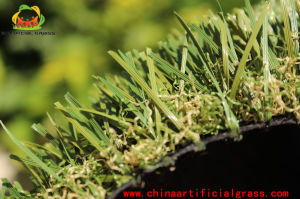 Landscaping Abrasion Resistant PE Monofilament Yarn Artificial Grass pictures & photos