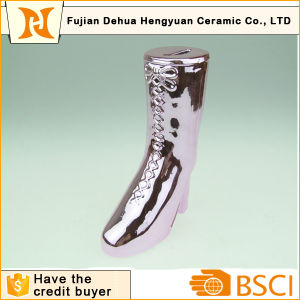 Plating Ceramic Boot Shape Piggy Bank pictures & photos