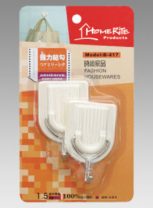 Plastic Adhesvie Hook (HK023) for Household Products