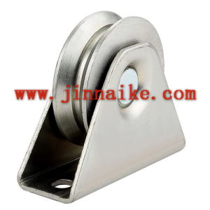 Y Groove Sliding Gate Roller with Bracket pictures & photos