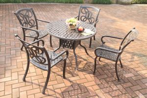 High Quality Dining Sets Cast Aluminum Outdoor Furniture pictures & photos