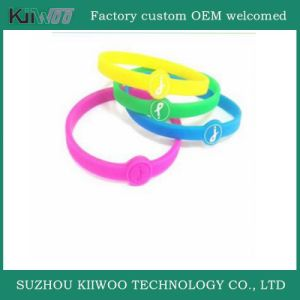 Wholesale Silicone Rubber Logo Printed Wristband pictures & photos