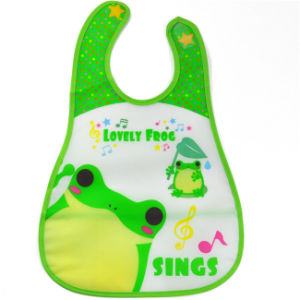 2016 China Supplier Coustom PEVA Baby Bib with Pocket (MECO125) pictures & photos