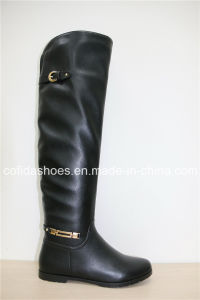 New Winter Warm Snow Women′s Boots with Rubber Sole pictures & photos