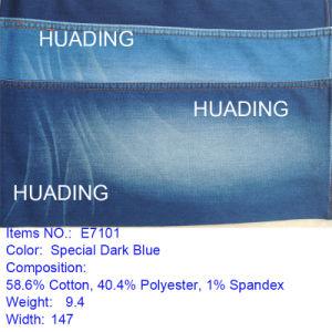 2016 New Fashion Dark Blue Denim Fabric (E7101) pictures & photos