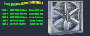 380V 3 Phase Industrial Exhaust Fan Aluminum Alloy Blades Wall Mounted Poultry House Exhaust Fan pictures & photos