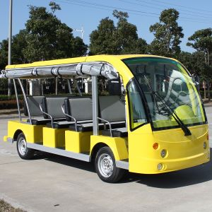 CE Open or Enclosed 14 Seats Electric Shuttle Bus for Airport (DN-14) pictures & photos