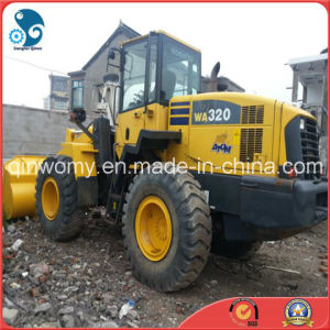 Japan Original-Yellow-Coat Shanghai-Located 80%-New-Tires Used Komatsu Wa320 Front Wheel Loader pictures & photos