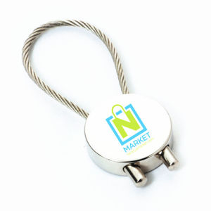 Stainless Steel Wire Rope Round Key Chain for Promotioin (F1334) pictures & photos